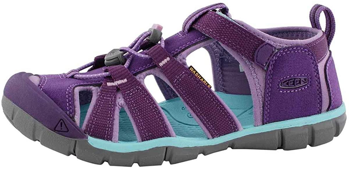 KEEN Unisex-Kids Seacamp II CNX Water Shoe, Majesty/Tibetan Stone, 4 M US Big Kid