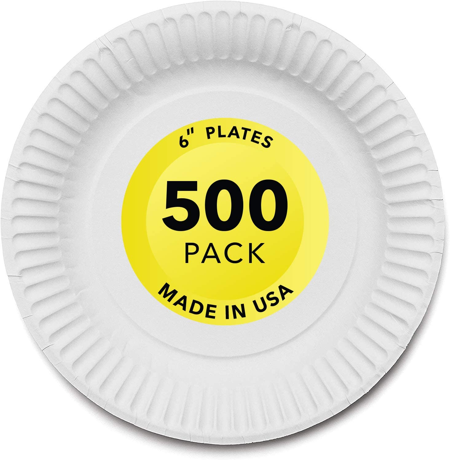 Stock Your Home 6-Inch Paper Plates Uncoated, Everyday Disposable Dessert Plates 6
