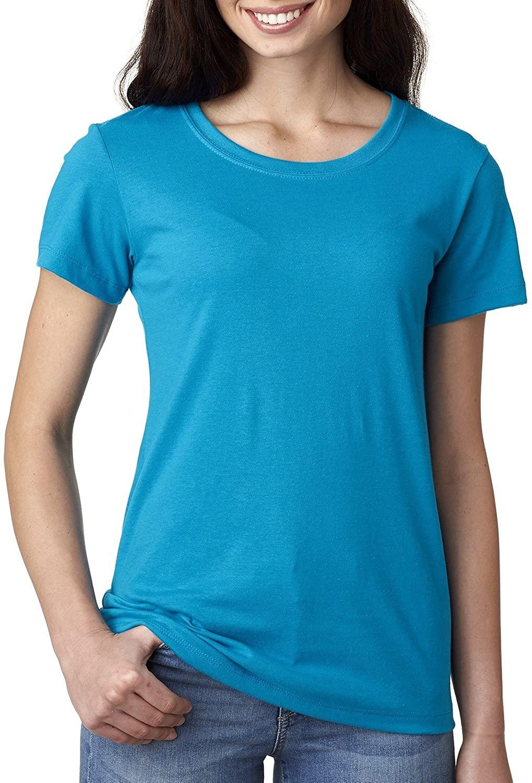 Next Level Apparel Women's Crewneck Short Sleeve T-Shirt, M, TURQUOISE