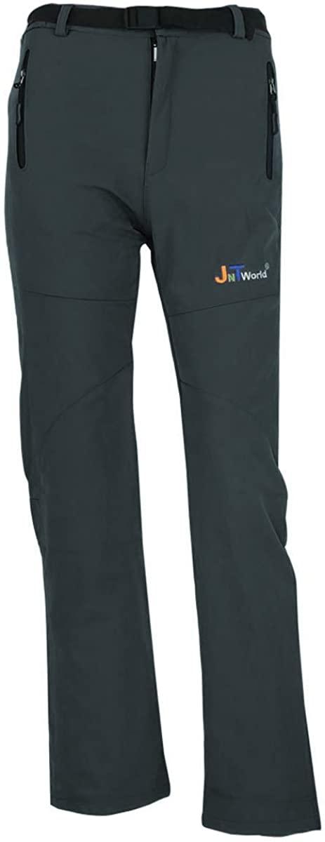 jntworld Women Warm Wind Waterproof Hiking Pants Trousers Breathable Soft Shell