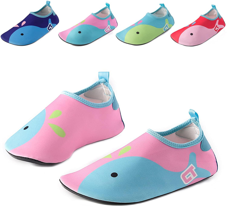 Vivay Kids Water Shoes Girls Boys Toddler Quick Dry Anti Slip Aqua Socks for Beach Outdoor Sports