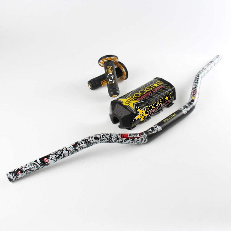 scooter Handlebar Rockstar PRO Kacen Handle Grips Metal Mu Pack Fat Bar 1-1/8