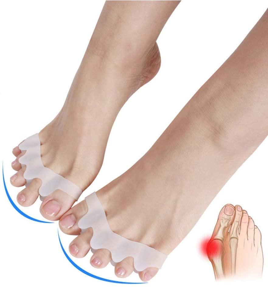 Hammer Toe Corrector & Hallux Valgus Straighteners & Gel Toes Separators Hammer Toe Straightener Bunion Correctors Yoga Claw Toe Splint Toe Separator Protectors - 1 Pair