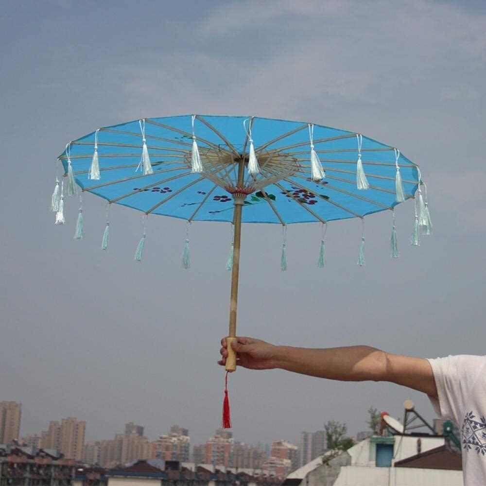 ASDF Umbrella COS Props Umbrella Classical Hanfu Photo Photography Decorative Umbrella Craft Tassel Umbrella (Color : E)