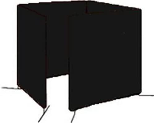Tillman 6064666 6'X6' 14mil. 4 Panel Shade-8 Vinyl Welding Curtain wit