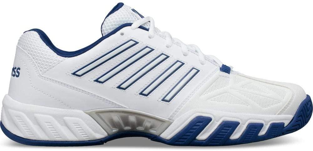 K-Swiss Bigshot Light 3 Mens Tennis Shoe - White/Limoges/Silver