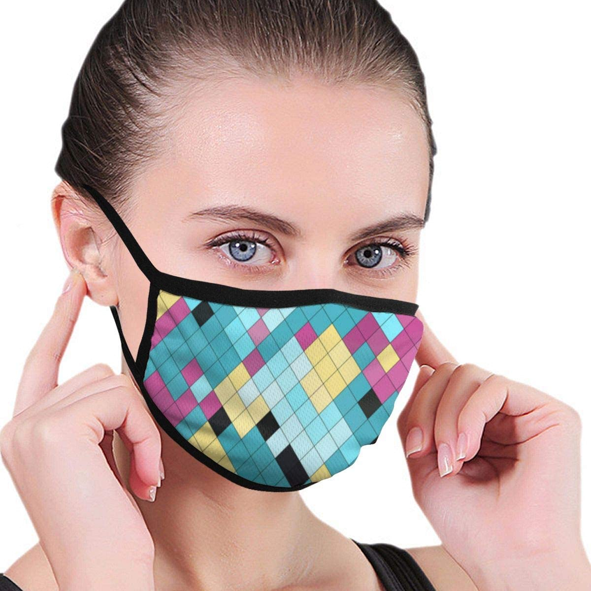 Anti Dust Breathable Face Mouth Mask Pixelated Washable Face Mask for Cycling Camping Travel