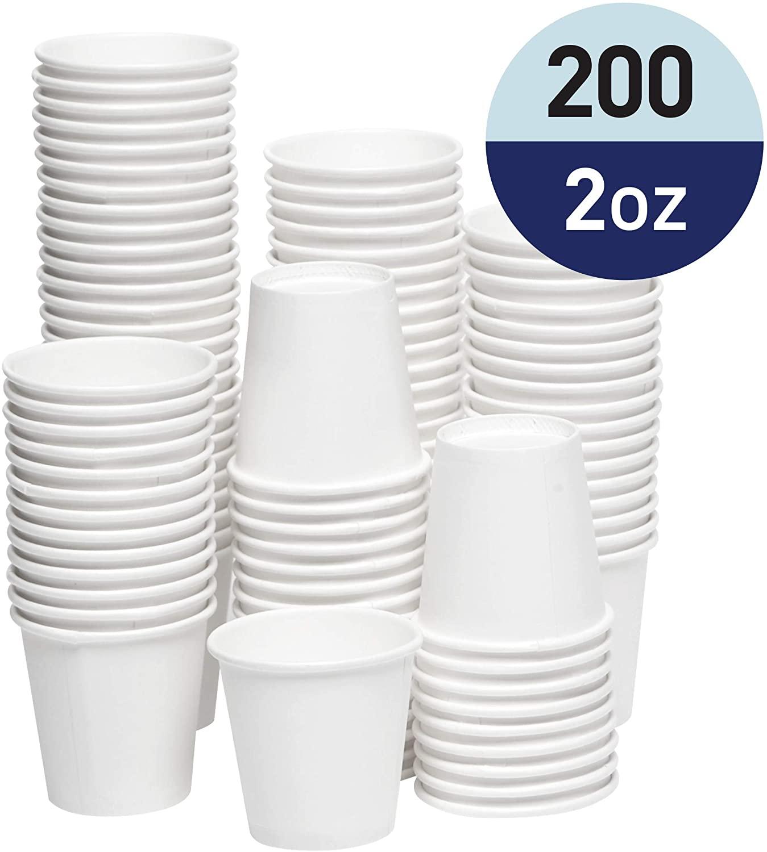 Papernain Paper Disposable Bath Cups (White, 2 oz, 200-Count)