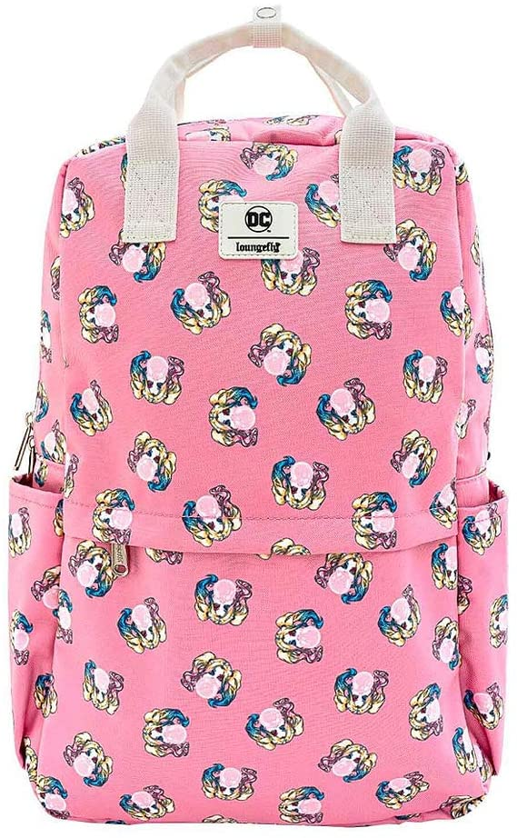 Loungefly Harley Quinn Bubble Gum AOP Nylon Square Backpack Standard