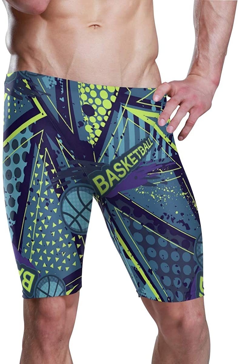 Mr.XZY Men's Jammer Swimsuit Athletic Durable