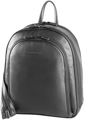 Derek Alexander Three Zip Organizer Backpack, Black/Buff, One Size