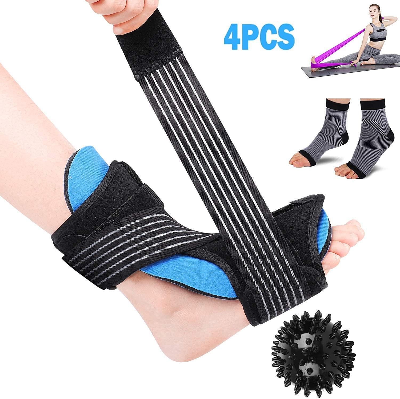 LBLESSY Plantar Fasciitis Night Splint Foot Drop Orthotic Brace,Adjustable Dorsal Night Splint Supports for Right or Left Foot,Effective Relief from Plantar Fasciitis Pain,Foot Back Sprain and Strain