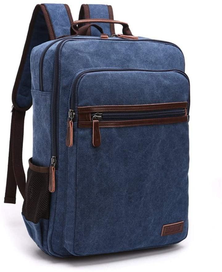 XUE XUEJIONG Student Rucksack Portable Shoulder Computer Backpack Men and Women Student Bag Large Capacity Travel Bag XUE (Color : Deep Blue, Size : 423310)