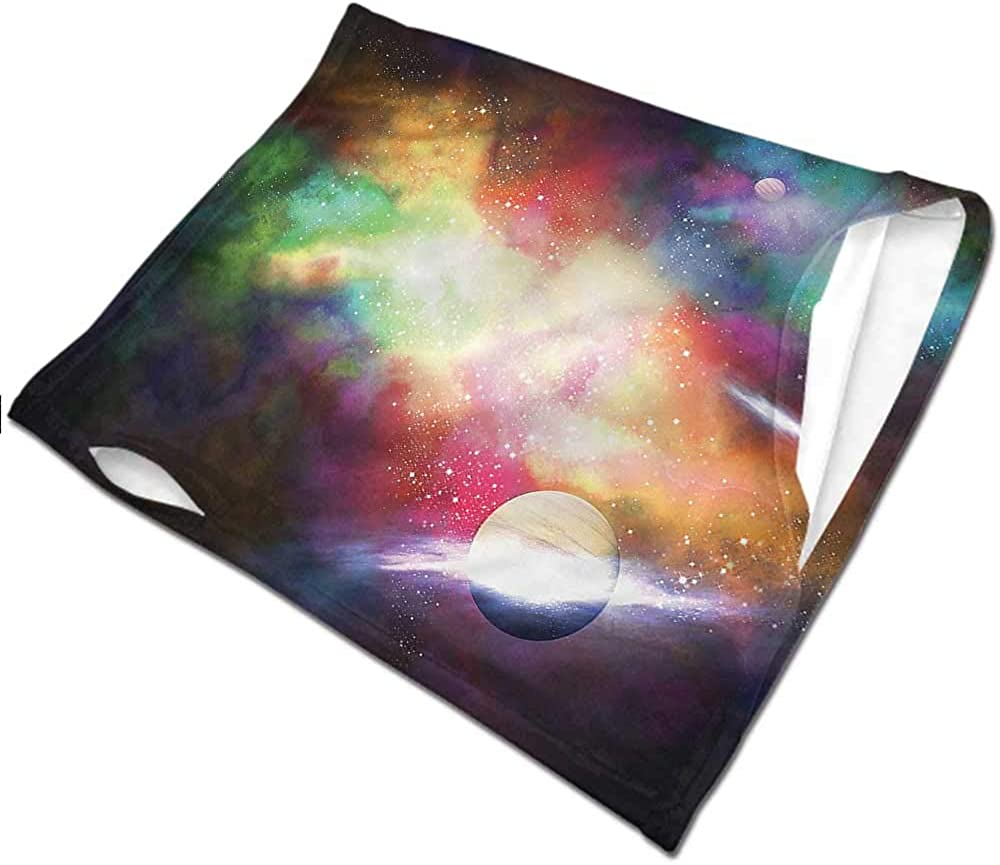 Neck Warmer Nebula,Surreal Space Star Clusters Seamless UV Protection