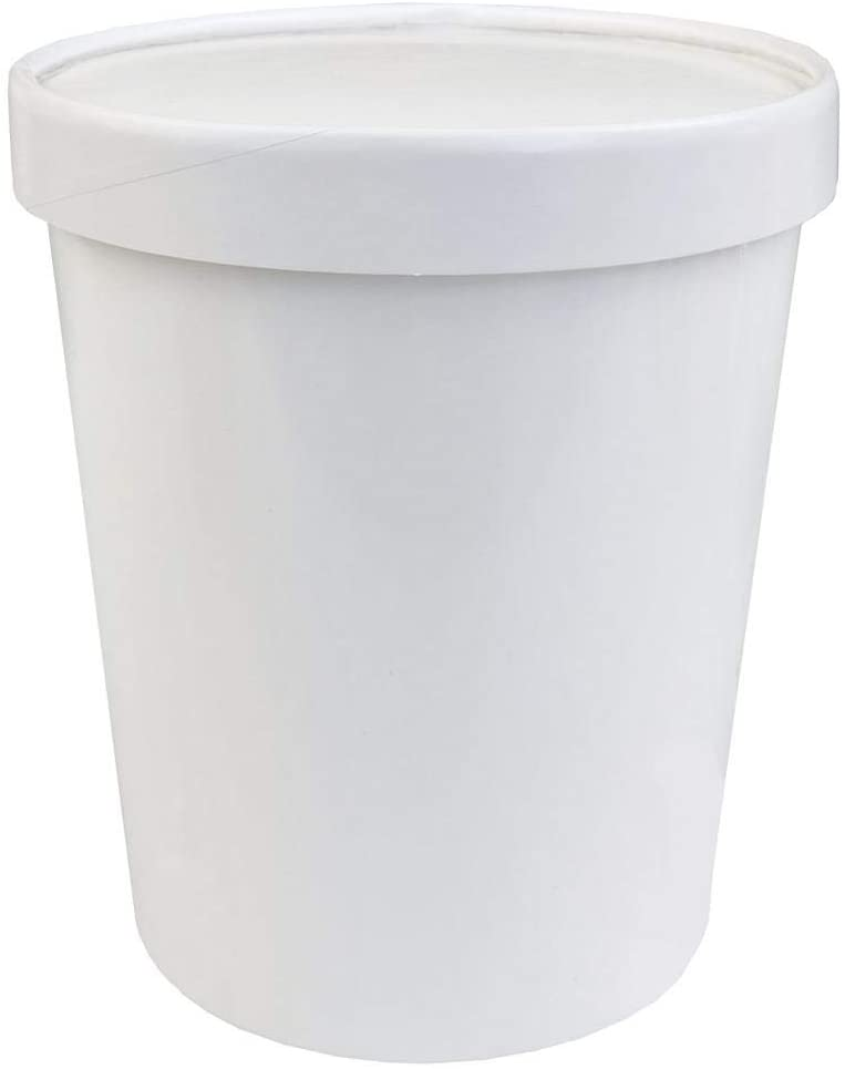 [10 Count] 32 oz Freezer Containers And Lids - With Non-vented Lids to Prevent Freezer Burn - Premium Heavy Duty Quart Ice Cream Containers Frozen Dessert Supplies