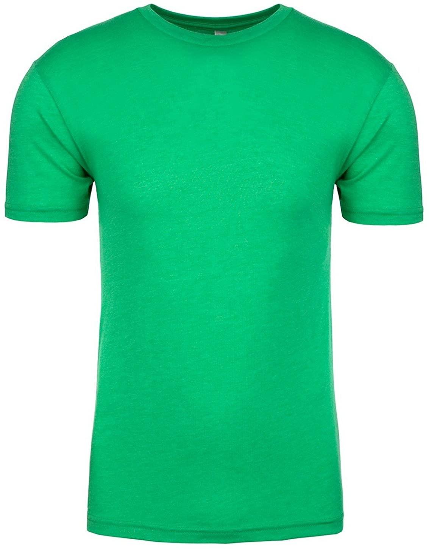 Next Level Mens Rib Collar Tri Blend Satin Label T-Shirt