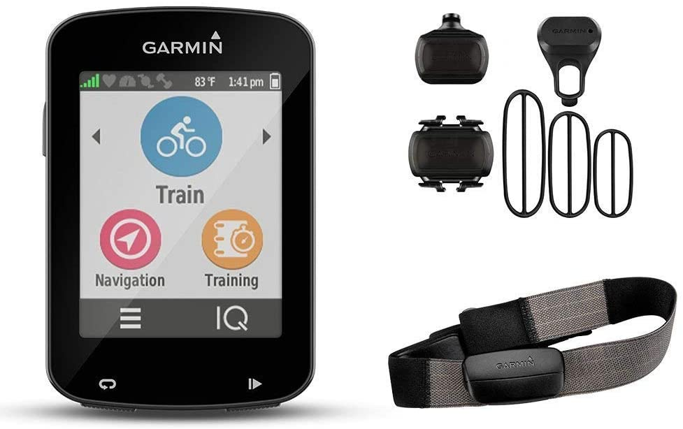 Garmin Edge 820 GPS Bundle with Premium Heart Rate Monitor and Cadence Sensor