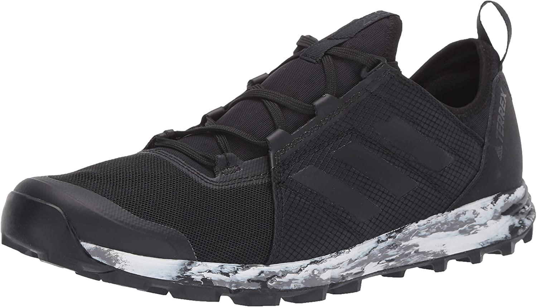 adidas Mens Terrex Agravic Speed Trail Running Shoe - Blue Beauty/Grey Two/Shock Cyan, 10.0 (8, Black/Black/White)