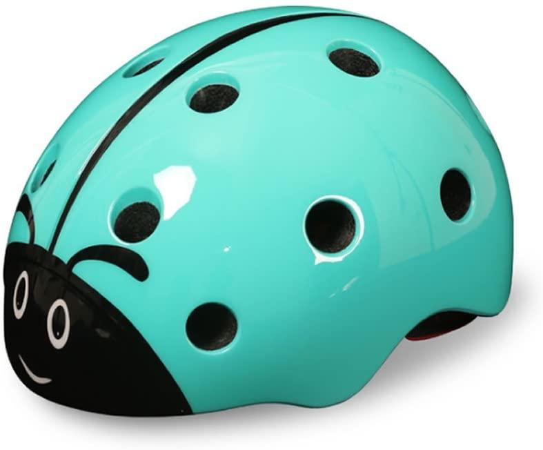 WAN ROU Children's Multi-Sport Ladybug Helmet for Girls/Boys Skiing Snowboarding Scootering Cycling (Blue)