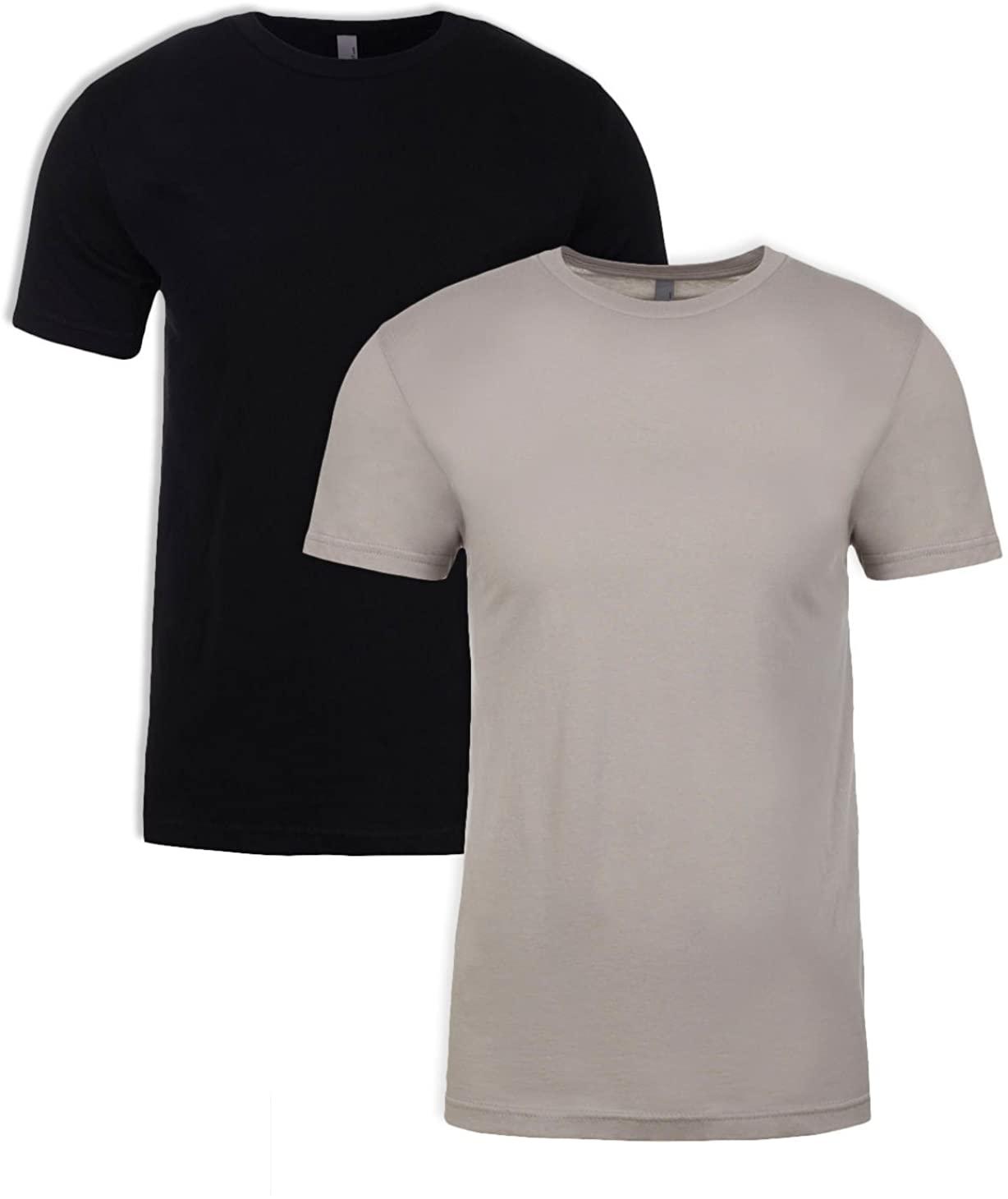 Next Level N6210 T-Shirt, Black + Silk (2 Pack), XX-Large