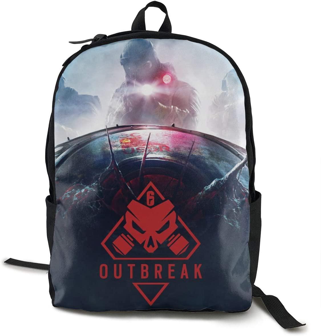 GekhHaon Rainbow Six Siege College Backpack Student Bookbag Multipurpose DaypacksTraveling Backpack
