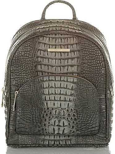 Brahmin Mini Dartmouth Leather Backpack Charcoal