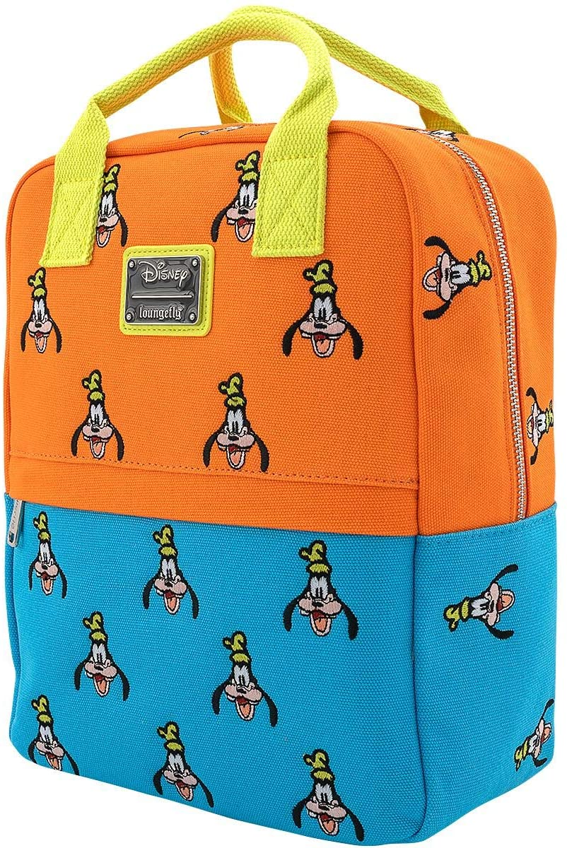 Loungefly x Disney Goofy Canvas Mini Backpack (Multicolor, One Size)