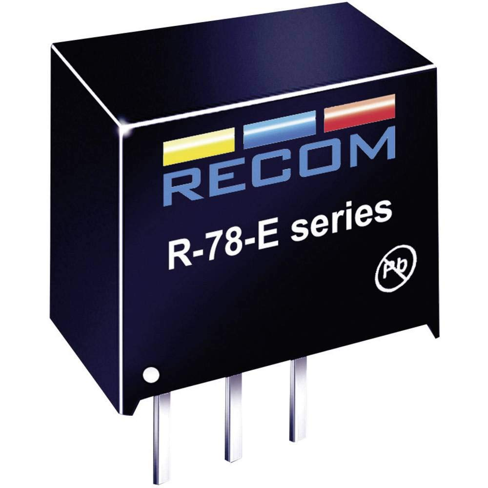 RECOM R-78E5.0-0.5 Non-Isolated DC/DC Converters 0.5A 5V Out SIP VERT