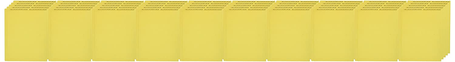 KARDEX COMPARABLE ETF157Y End Tab Folder, Fas# 5, 11Pt Color Stock, Top and Side, 0-9 Scale Printed Twice on Tab, 11 3/4