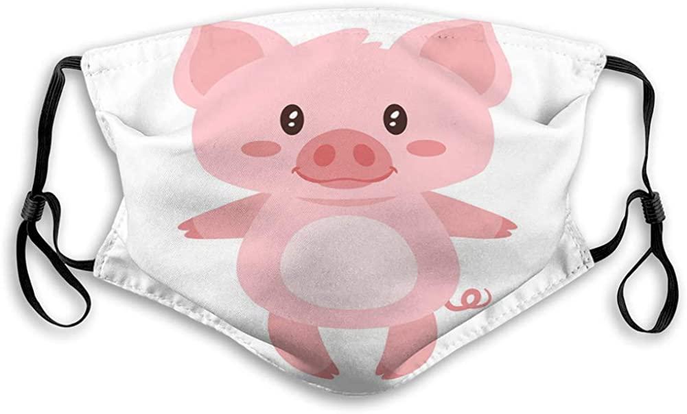 Anti-Dust Shield Adjustable Earloop Cute Pink Standing Pig Mouth Covers