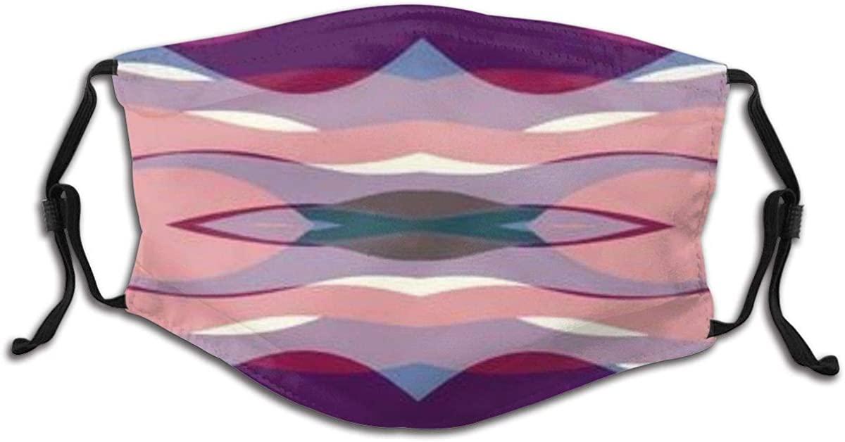 Symmetrical Soft Color Waves Child Face Mask Cotton Reusable Washable Breathable