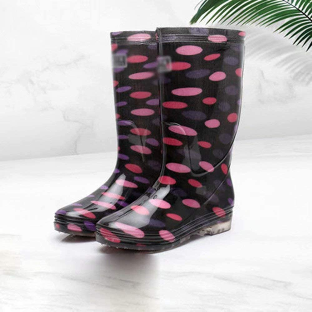 HSTFⓇ Spring and Summer Autumn rain Boots Ladies high Water Shoes Anti-Skid Rubber Shoes Shoes Fashion Short Tube Shoes