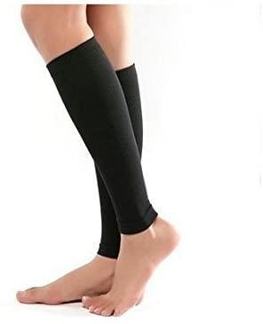 Yosoo Thin Leg Calves Shaper Burn Fat Socks Compression Stovepipe Socks Leg Arm Warmers Calves Sleeves (Black)