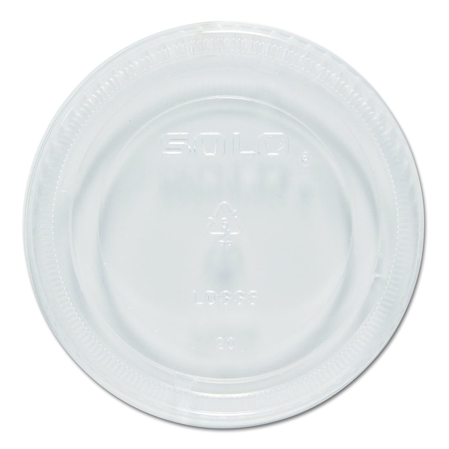Solo LDSS5-0090 Clear Plastic Sauces, Sides And Sweets Portion Cup Lid - Fits 5.5 oz (Case of 1000)