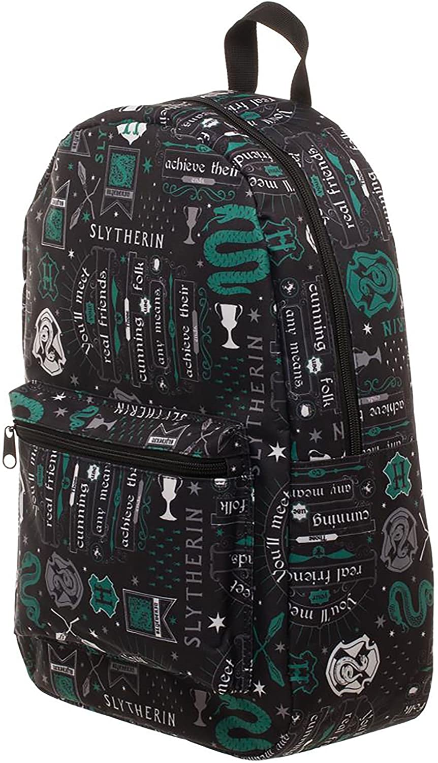 Harry Potter Icon Print Slytherin Backpack Standard