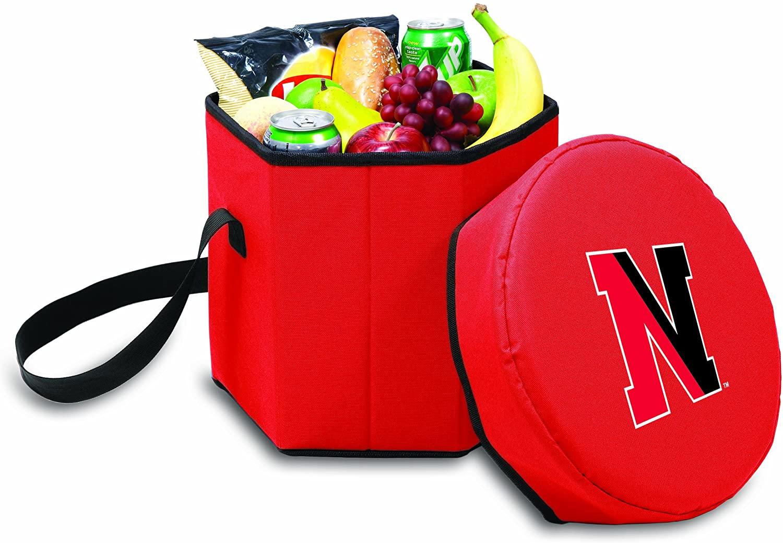 NCAA Northeastern Huskies Bongo Insulated Collapsible Cooler, Red