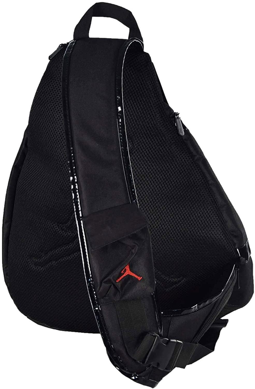 Nike Jordan Jumpman Sling Black Patent/Red Zipper Book-Bag BackPack Men/Women