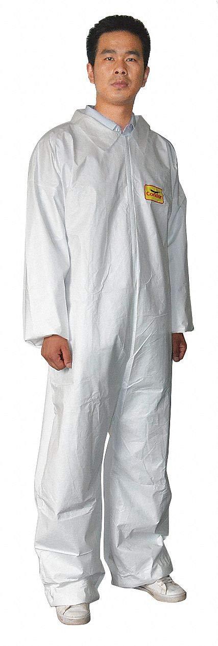 CONDOR 30C564 Microporous Polyethylene, Open, 2XL, PK6