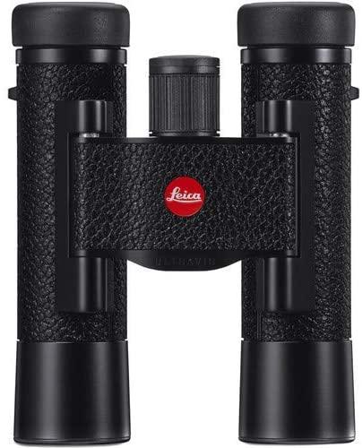 Leica 10x25 Ultravid Blackline Binocular (Black with Black Leather)