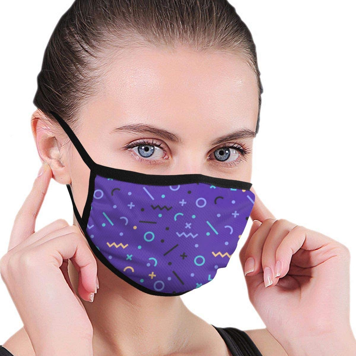 Anti Dust Breathable Face Mouth Mask Abstract Washable Face Mask for Cycling Camping Travel