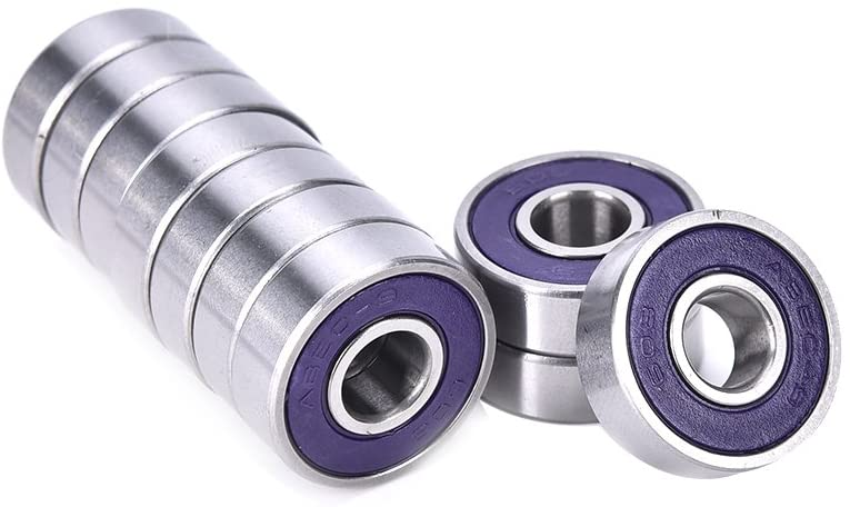 10 Pcs ABEC 9 Stainless Steel Bearings Roller Skate Scooter Skateboard Wheel - Purple