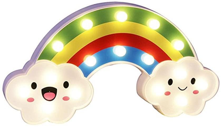 ZEKUI Rainbow Sign Lights Kids Room Decor Birthday Party Marquee Night Lights