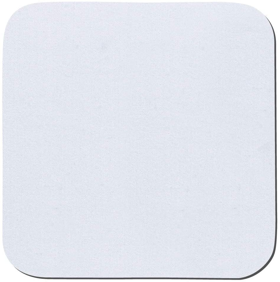 Thirsty Rhino Jeli, Soft Rubber & Jersey Neoprene Coaster, White, Set of 12 (Square)