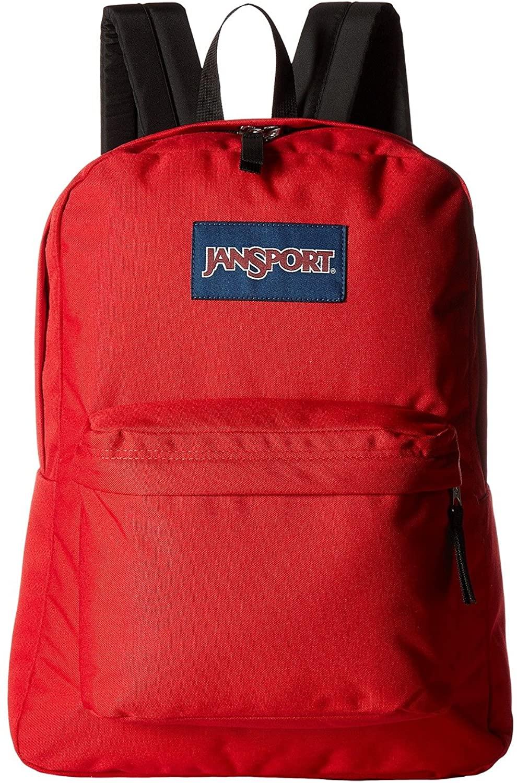 Jansport Backpack Superbreak Black 51353 (Red Tape)