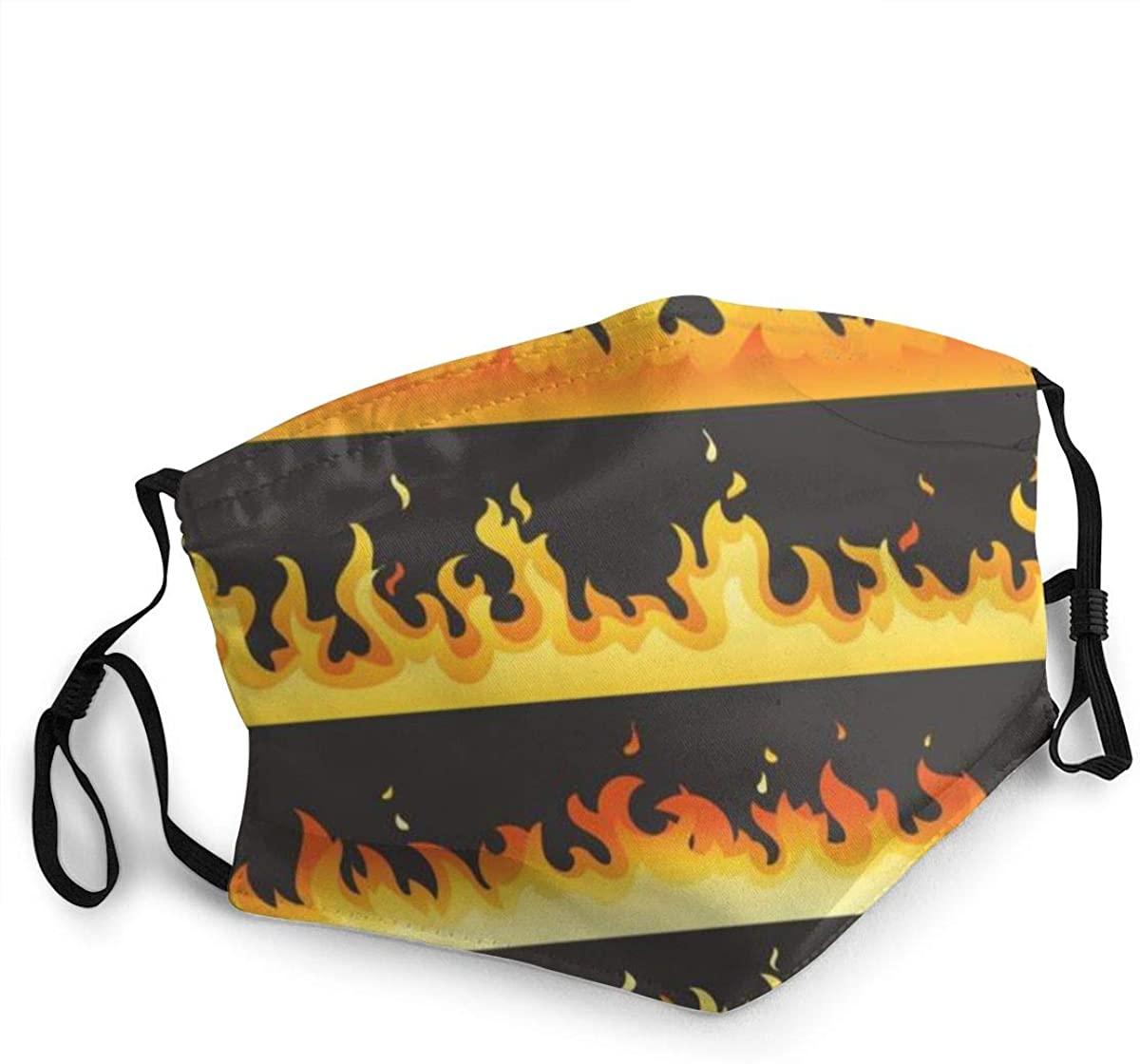 Fashion Protective Face Masks, Hot Fire Unisex Dust Mouth Masks, Washable, Reusable Masks