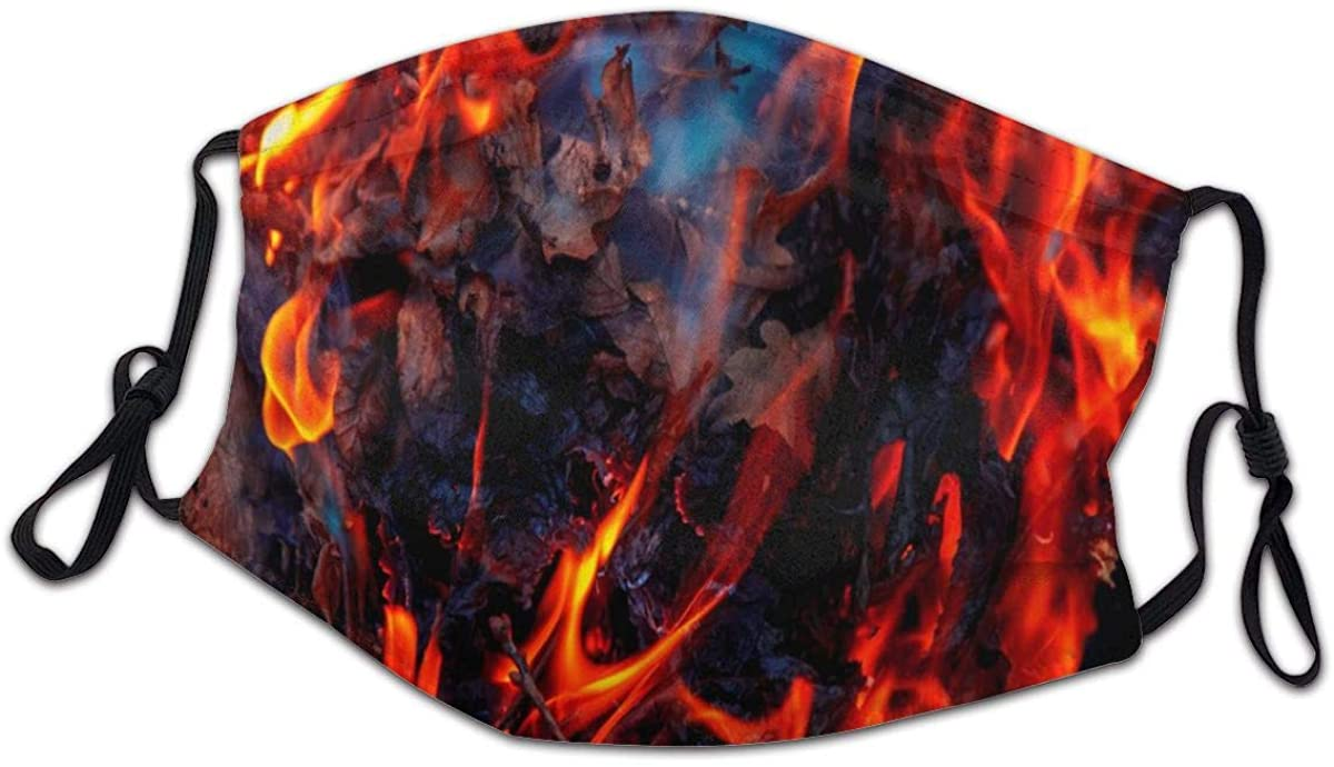 SLHFPX Special Fire Danger Flame Concept Face Bandanas for Kids Boys Girls Dust-Proof Facial Protective