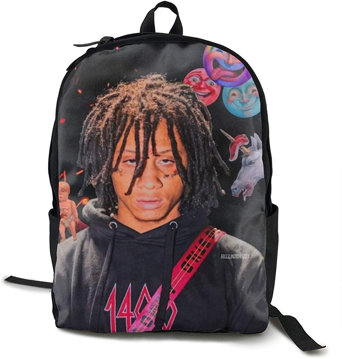RhteGui Trippie Redd College Backpack Student Bookbag Multipurpose DaypacksTraveling Backpack