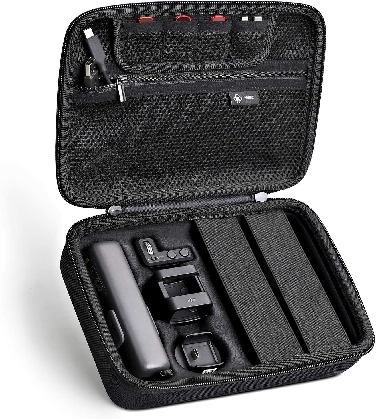 SHBC Carrying Case with Large Capacity and Absolutely Compatible with DJI Osmo Pocket and Expansion Kit Accessories The Waterproof Hard Bag is Your Necessary for Storage and Travelling