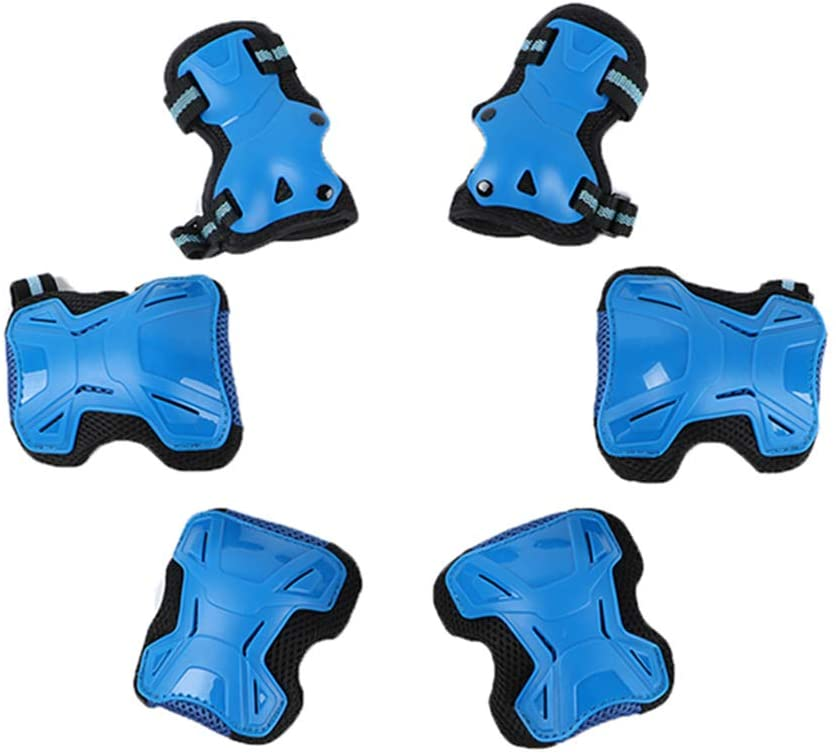 Children Roller-Skating Protective Gear Set of 6 Skating Kids Knee and Elbow Pads with Wrist for Cycling & Rollerblading Scooter