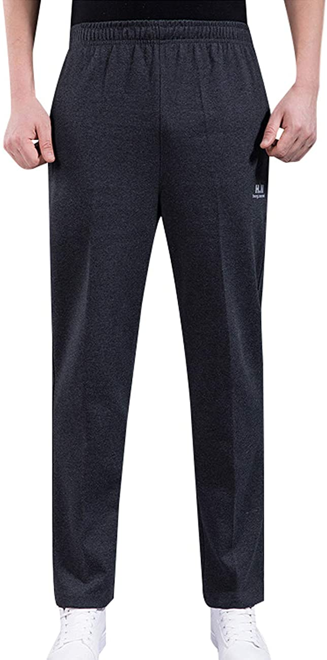 Zoulee Fall New Men's Open-Bottom Sports Pants Sweatpants Trousers